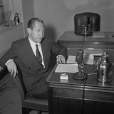 William Paley in His CBS Office in New York City, 1939 Photo