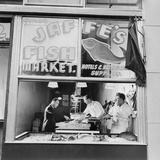 Fish Store in the Lower East Side, the Jewish Neighborhood of New York City. August 1942 Photo