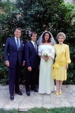 President and Nancy Reagan at Patti Davis's Wedding to Paul Grilley, Aug. 14, 1984 Photo