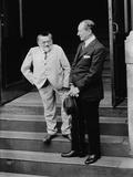 Charles Steinmetz (Left) with Guglielmo Marconi, Ca. 1920 Photo