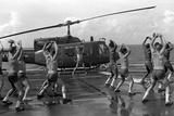 Marines Doing Jumping Jacks on Amphibious Assault Ship USS New Orleans, Aug. 1982 Photo
