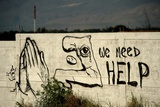 Graffiti Asking for Help in Port Au Prince, Haiti, after Earthquake of Jan. 12, 2010 Posters
