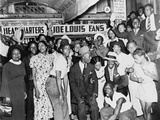 Joe Louis Fans Celebrate Louis' Victory over Tom Farr, Harlem, August 30, 1937 Photo