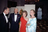 Nancy Reagan with Douglas Fairbanks Jr., Princess Grace, and Peter McCoy, July 1981 Photo