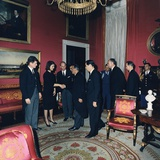 Angier Duke, Edward and Jackie Kennedy, Receive Leaders after JFK Funeral, 1963 Photo