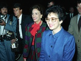 Philippine President Corazon C. Aquino, Arriving at Andrews Air Force Base, 1986 Photo