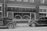 Separate Café Entrances for Whites and Colored in Durham, North Carolina, 1940 Photo