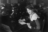Wireless Operator Was Recruited in WW1 to Fill Jobs Vacated by Drafted Men, 1917 Prints