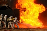 Ohio Air National Guardsmen Extinguish an Aircraft Fire in Training Exercise, 2010 Posters