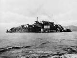 The Rock' United States Penitentiary on Alcatraz Island in San Francisco Bay California, Ca. 1940s Print