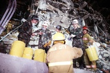 Emergency Workers Remove Rubble from Federal Building Ruins in Oklahoma City, 1995 Poster