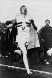 Roger Bannister Achieving the Four-Minute Mile, Oxford, Uk, May 6, 1954 Prints