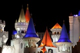 Colorful Turrets of the Excalibur Hotel and Casino on the Las Vegas Strip, 2009 Photographic Print