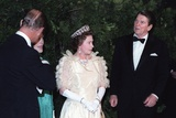 Queen Elizabeth II and Prince Philip with President and Nancy Reagan, March 1983 Print