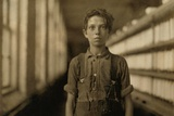 Child Laborer in Burlington, Vermont Worked in the Spinning Mule Room, May 1909 Prints
