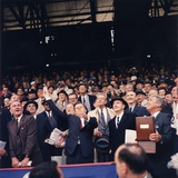 President Kennedy Throws Out First Ball of 1961 Baseball Season, April 10, 1961 Photo