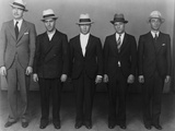 Vincent 'Mad Dog' Coll with His Members of His Gang in a NYC Line Up in 1931 Posters