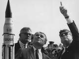 Wernher Von Braun Explains the Saturn Launch System to President Kennedy, Nov. 16, 1963 Photo