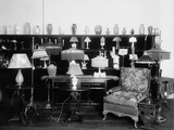 Electric Lamps on Display in a Store in the Washington, D.C. Area, Ca. 1920 Posters