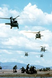 Army Rangers are Inserted by Black Hawk Helicopters into Honduras, March 1988 Photo