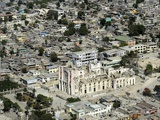 Roman Catholic Cathedral in Port-Au-Prince Haiti in Ruins after Earthquake in Jan. 2010 Photo