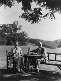 Franklin and Eleanor Roosevelt on the South Lawn at Hyde Park Ny. August 16 1933 Photo