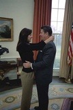 Patti Davis Embraces Her Father President Reagan in the Oval Office, Jan. 21, 1981 Photo