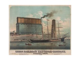 Many Modes of Transport Meet at the Toledo , Ohio Grain Elevators in 1882 Posters