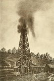 Oil Well with a Gusher in the Oil Region of Pennsylvania, Ca. 1880 Posters