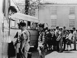 White Students Boarding Buses for a Private Segregated School in Virginia, 1961 Photo