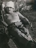 Albert Einstein Sunbathing in 1932 Posters