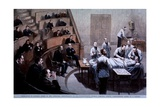 Operating Room Amphitheater of the Massachusetts General Hospital, Boston, 1888 Print