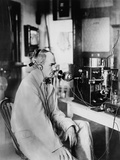 Lee Deforest, an Experimental Radio Station in NYC in 1916 Photo