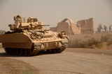 US Bradley Fighting Vehicle Passes by the Palace of Historic Ctesiphon, Feb. 16, 2008 Photographic Print