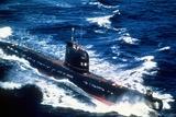 A Soviet-Built Cuban Patrol Submarine Underway, Aug. 1, 1986 Photo