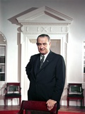 President Lyndon Johnson. Official Portrait Taken by Arnold Newman in the Oval Office, Ca. 1964-68 Print