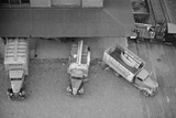 Overhead View of Trucks Loading at Warehouse, Minneapolis, 1939 Posters