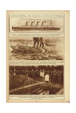 New York Times Illustrations of Sinking of the Lusitania by a German Submarine, 1915 Posters