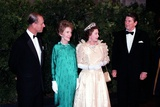 Queen Elizabeth II and Prince Philip with President and Nancy Reagan, March 1983 Posters