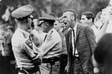 White Student Shouts Insults at United States Marshals in School Integration. 1962 Print