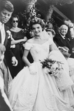 Jacqueline Bouvier Kennedy Emerging from St. Mary's Church on Her Wedding Day, September 12, 1953 Posters