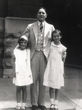 Nancy Davis with Her Stepfather Dr. Dr. Loyal Davis and Charlotte Galbraith, 1928 Posters