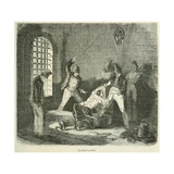 Prisoner Is Punished with a Whipping in the Brest Prison, in France, Ca. 1850 Posters