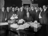President William Taft in the Oval Office Signing the Arizona Statehood Bill, 1912 Photo