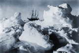 Ernest Shackleton's Ship, Endurance, in Weddell Sea Pack Ice in Antarctica, 1916 Print