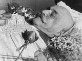 George Ivanovich Gurdjieff (1866-1949), a Greek-Armenian Mystic, in His Coffin, October 1949 Prints