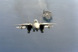 F-14 Tomcat Fighter after Takes Off from USS America, 1984 Photo