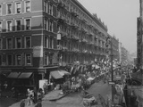 Rivington Street on New York City's Lower East Side Jewish Neighborhood in 1909 Photo