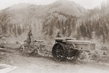 Road Grader Pulled by a Steel Wheeled Tractor in Alaska's Tanana Valley in 1916 Photo