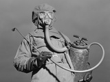 World War II Era American Soldier in a Decontamination Suit . December 1942 Photo